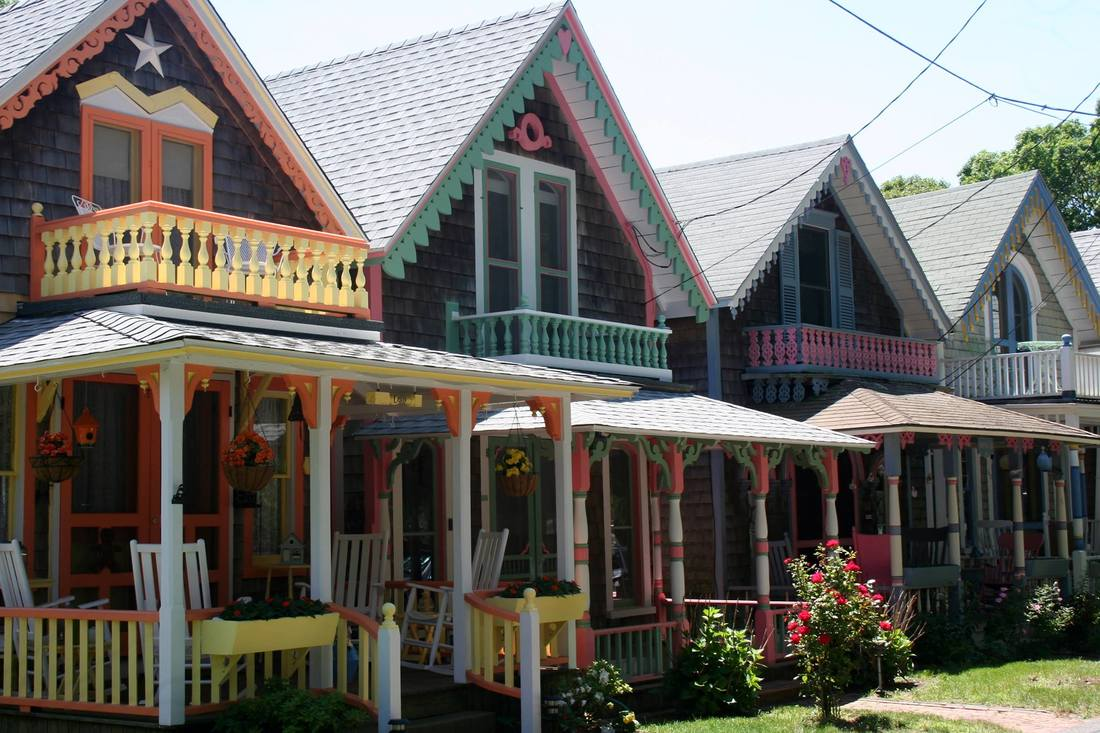 Real Life Gingerbread Houses Oak Bluffs